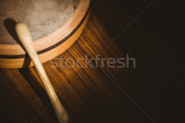 Traditional Irish bodhran and stick Stock photo © wavebreak_media