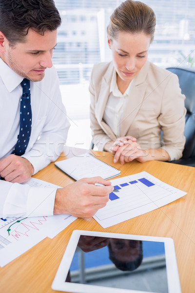 коллеги деловое совещание молодым человеком женщину таблице Сток-фото © wavebreak_media