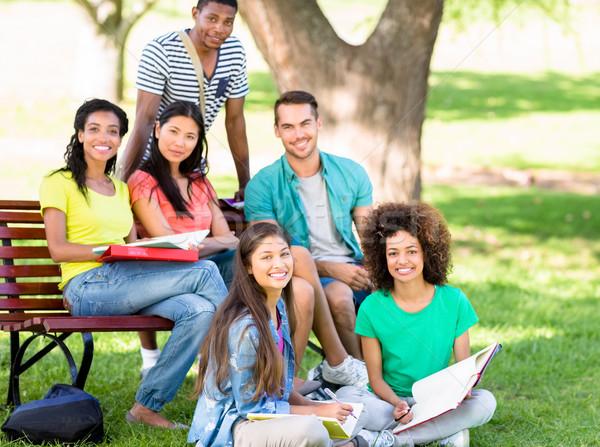 Portré diákok tanul kampusz egyetem főiskola Stock fotó © wavebreak_media