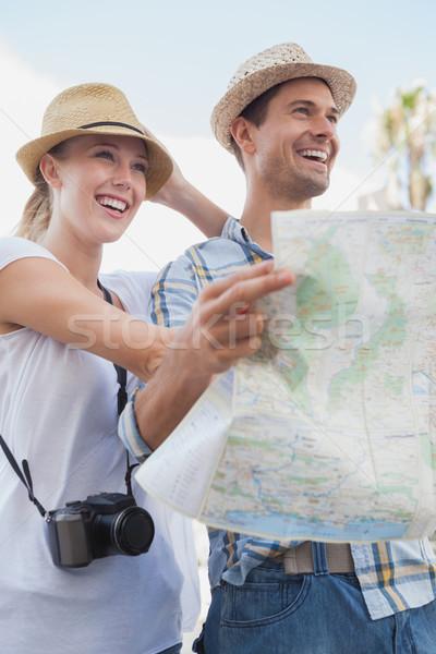 молодые туристических пару карта город Сток-фото © wavebreak_media