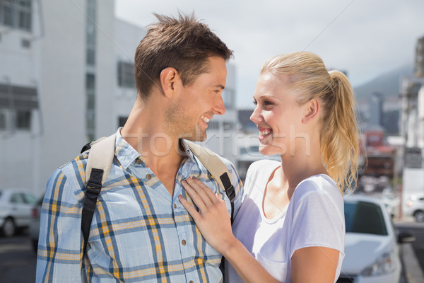 Hip young couple smiling at each other Stock photo © wavebreak_media