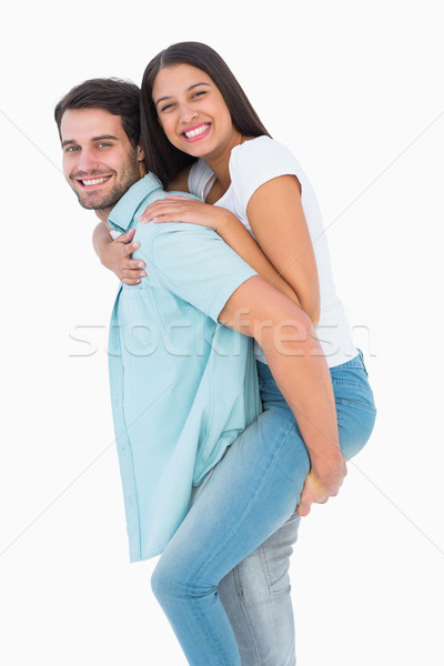 Gelukkig toevallig man mooie vriendin Stockfoto © wavebreak_media
