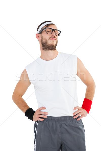 позируют спортивная одежда белый счастливым фитнес Сток-фото © wavebreak_media
