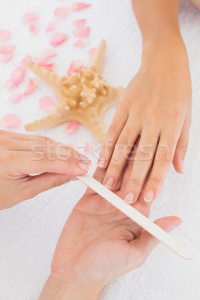женщины ногти Spa салон красоты Сток-фото © wavebreak_media