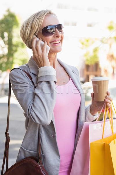 счастливым ходьбе торговых кофе Сток-фото © wavebreak_media