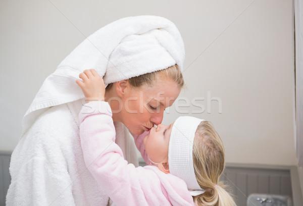 Cute dziewczynka matka domu łazienka domu Zdjęcia stock © wavebreak_media