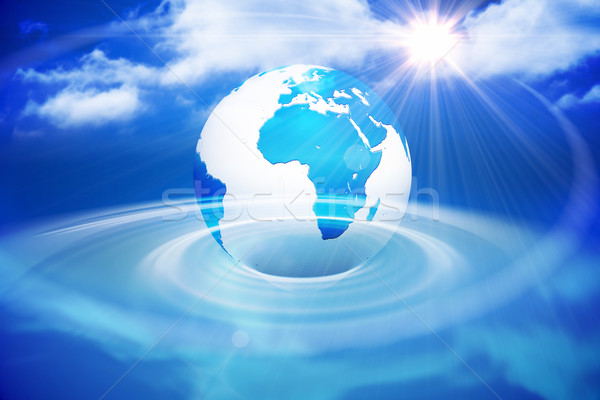 Digitally generated earth with blue light Stock photo © wavebreak_media