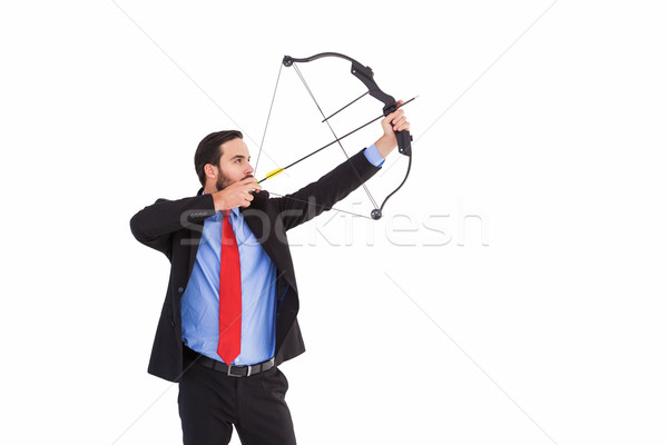 Gericht zakenman schieten boeg pijl witte Stockfoto © wavebreak_media