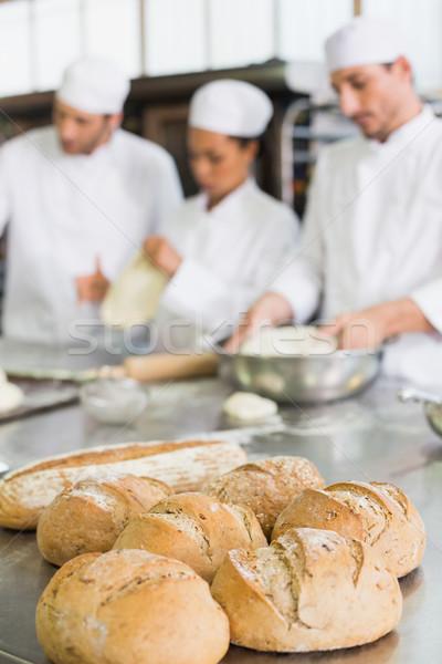 Csapat dolgozik pult konyha pékség üzlet Stock fotó © wavebreak_media