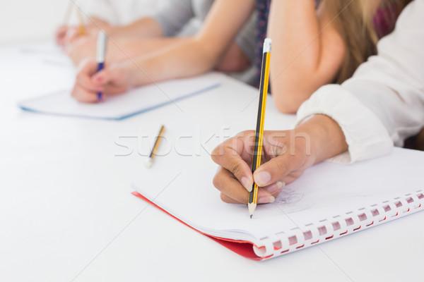 élèves prendre des notes classe collège école design Photo stock © wavebreak_media
