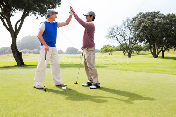 Golfen vrienden hoog gat golfbaan golf Stockfoto © wavebreak_media