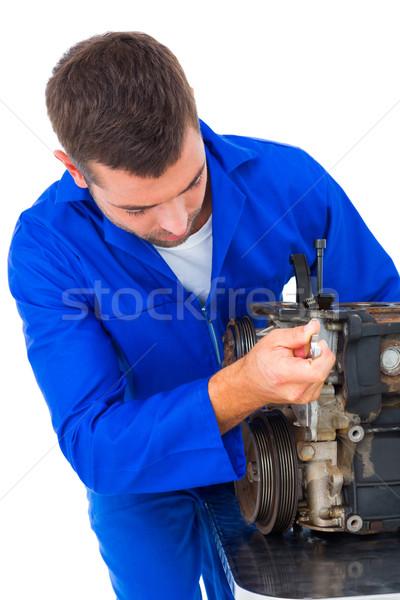 男性 メカニック 車 エンジン 白 ストックフォト © wavebreak_media