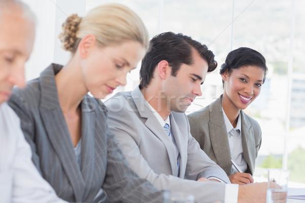 üzleti csapat jegyzetel konferencia iroda üzlet üveg Stock fotó © wavebreak_media