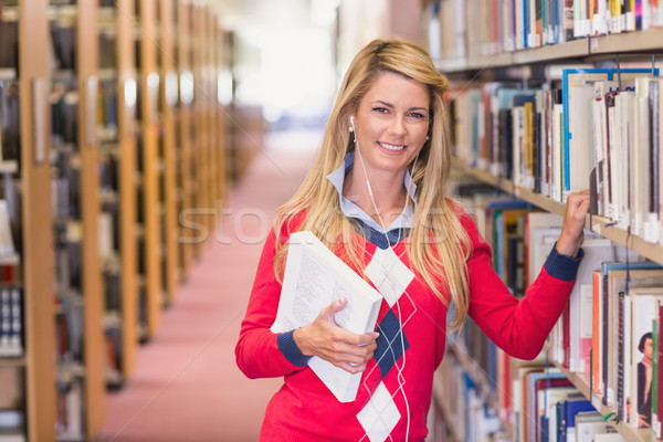 Mature student studying in the library Stock photo © wavebreak_media