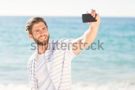 Gyönyörű nő bikini megnyugtató úszómedence víz boldog Stock fotó © wavebreak_media