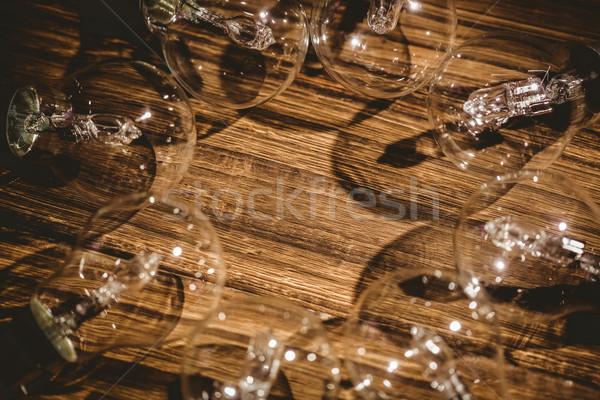 кадр деревянный стол текстуры древесины столе Сток-фото © wavebreak_media