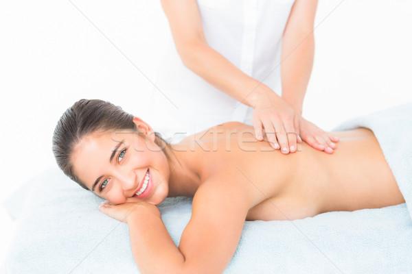 Foto d'archivio: Bella · bruna · massaggio · donna