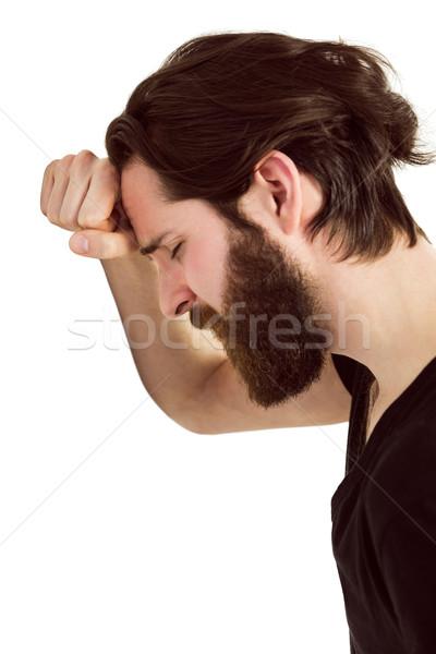 élégant sensation déprimée blanche tête Photo stock © wavebreak_media