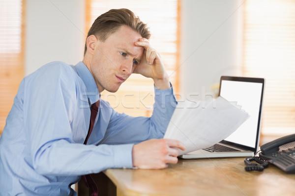 Gericht zakenman lezing document bureau kantoor Stockfoto © wavebreak_media