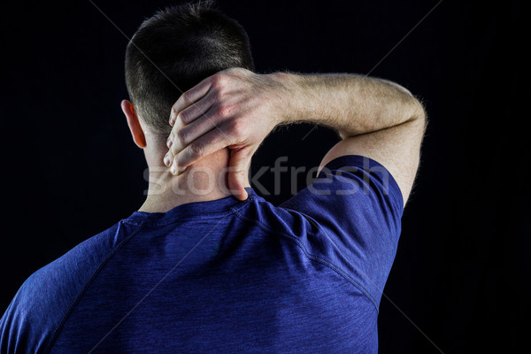 Homem sobre preto mãos Foto stock © wavebreak_media
