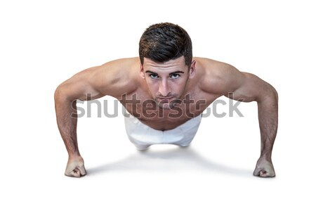 сильный Культурист прессы вверх белый Sexy Сток-фото © wavebreak_media