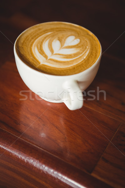 Tasse cappuccino café art contre café Photo stock © wavebreak_media