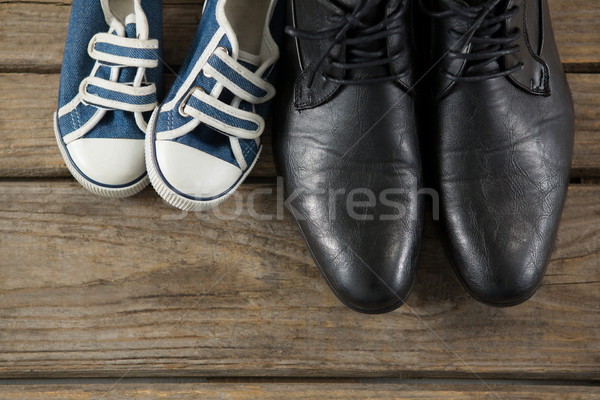 Overhead view of shoes on table Stock photo © wavebreak_media
