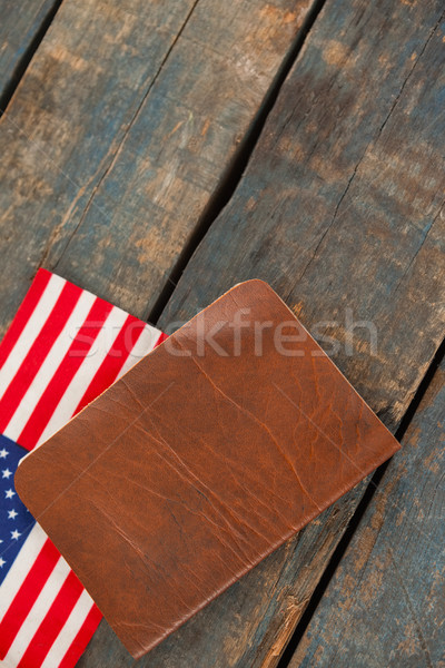 Visa and American flag on a wooden table Stock photo © wavebreak_media