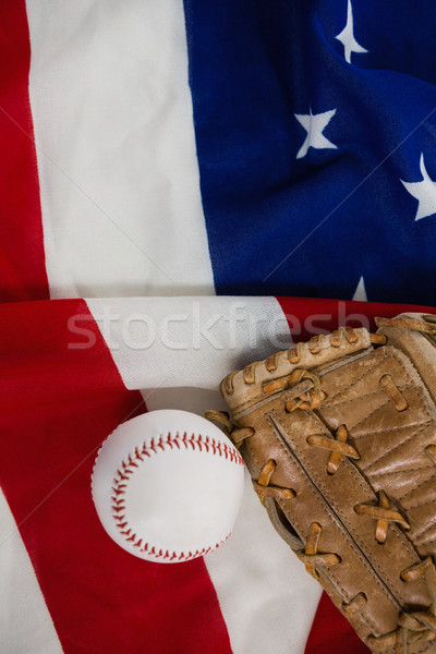 Béisbol guantes bandera de Estados Unidos primer plano deporte azul Foto stock © wavebreak_media