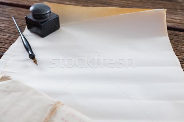 インク ポット ペン 法的 文書 表 ストックフォト © wavebreak_media