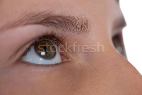 Girls eye and nose against white background Stock photo © wavebreak_media