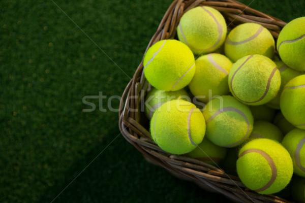 Tennis mand veld Stockfoto © wavebreak_media