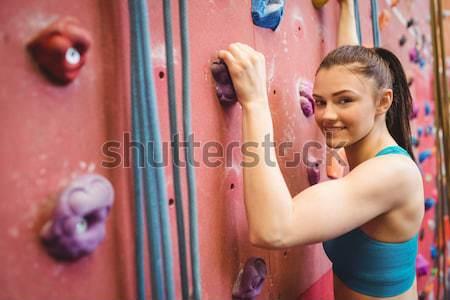女性 岩クライミング フィットネス スタジオ ストックフォト © wavebreak_media