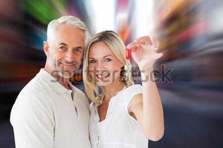 Smiling volunteers doing thumbs up Stock photo © wavebreak_media