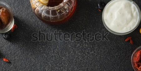 Yogurt date miele nero fitness frutta Foto d'archivio © wavebreak_media