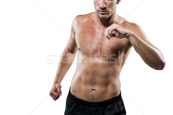 Sin camisa atleta blanco hombre fitness Foto stock © wavebreak_media