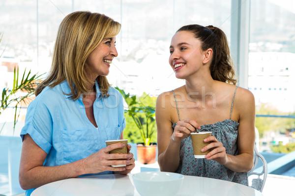 Mother and daughter drink tea Stock photo © wavebreak_media