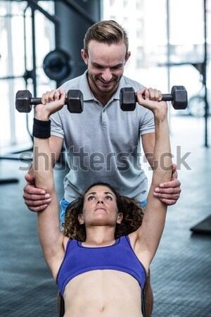 Athletic man and woman working out Stock photo © wavebreak_media
