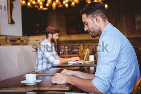 Znajomych gry szachy kawy kawiarnia kobieta Zdjęcia stock © wavebreak_media