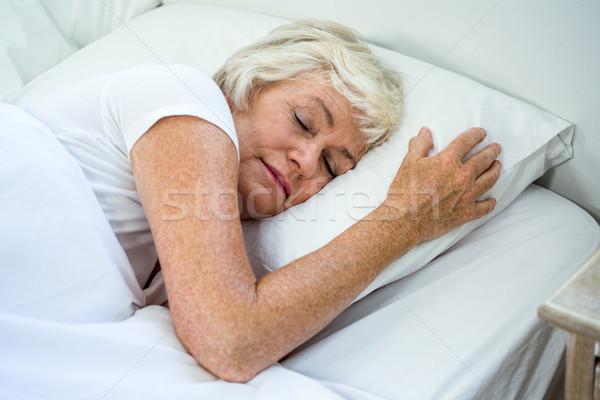 мнение женщину спальный кровать Сток-фото © wavebreak_media