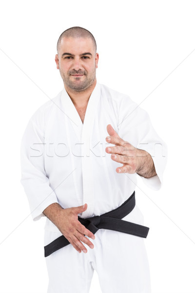 Retrato lutador branco homem japonês Foto stock © wavebreak_media