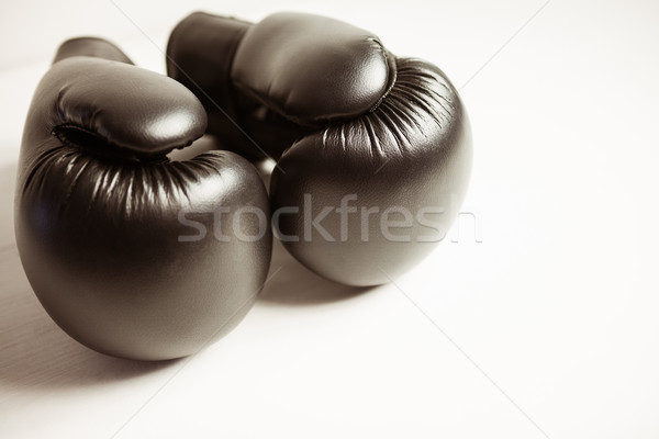 View guantoni da boxe bianco sport professionali boxing Foto d'archivio © wavebreak_media