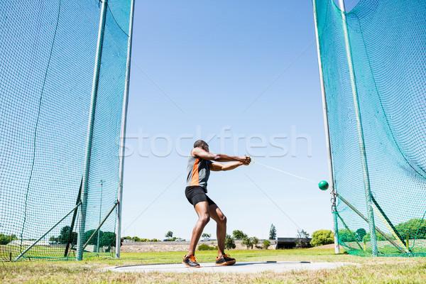 Athlete performing a hammer throw Stock photo © wavebreak_media