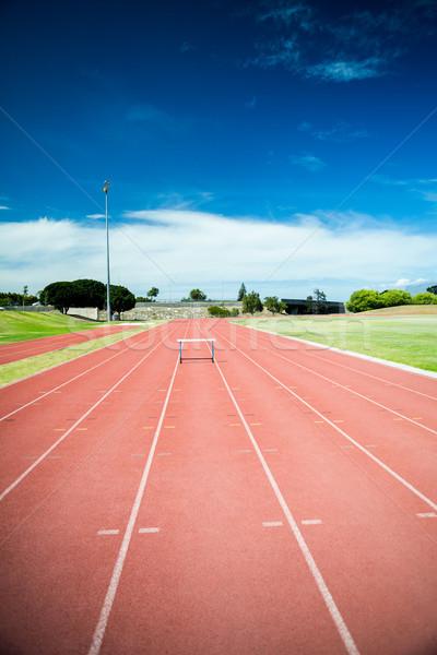 Hurdle on the running track Stock photo © wavebreak_media