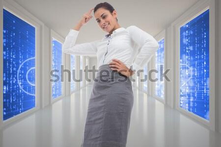 Tensed male nurse leaning on wall in corridor Stock photo © wavebreak_media