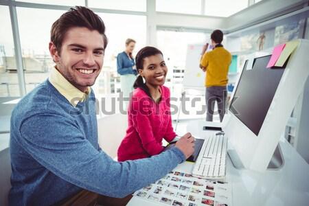 Grafik çalışma büro ofis bilgisayar adam Stok fotoğraf © wavebreak_media