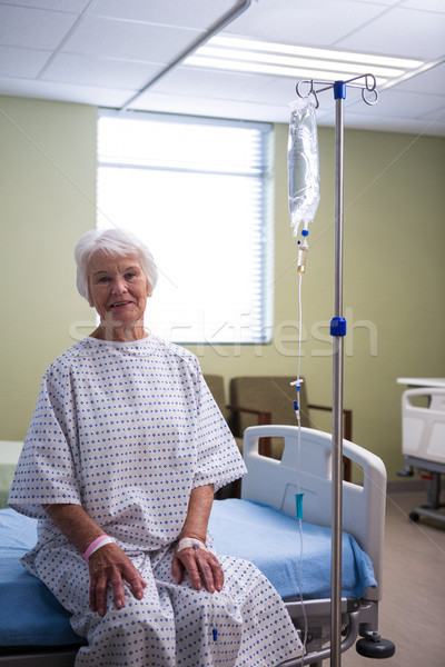 Smiling senior patient at hospital ward Stock photo © wavebreak_media