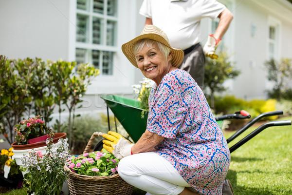 садоводства вместе задний двор женщину человека Сток-фото © wavebreak_media