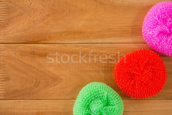 View plastica spugna tavola rosso Foto d'archivio © wavebreak_media