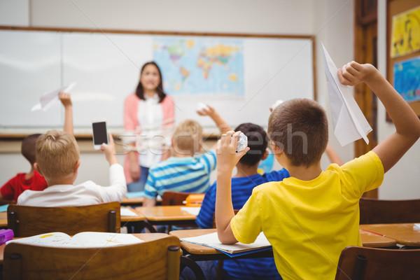 学生 紙 クラス 少年 教室 ストックフォト © wavebreak_media